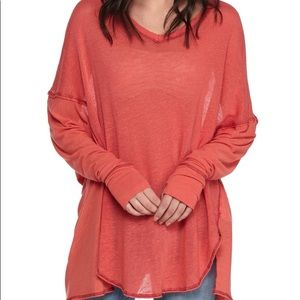 Free People Never Give Up Dolman Drippy Tunic